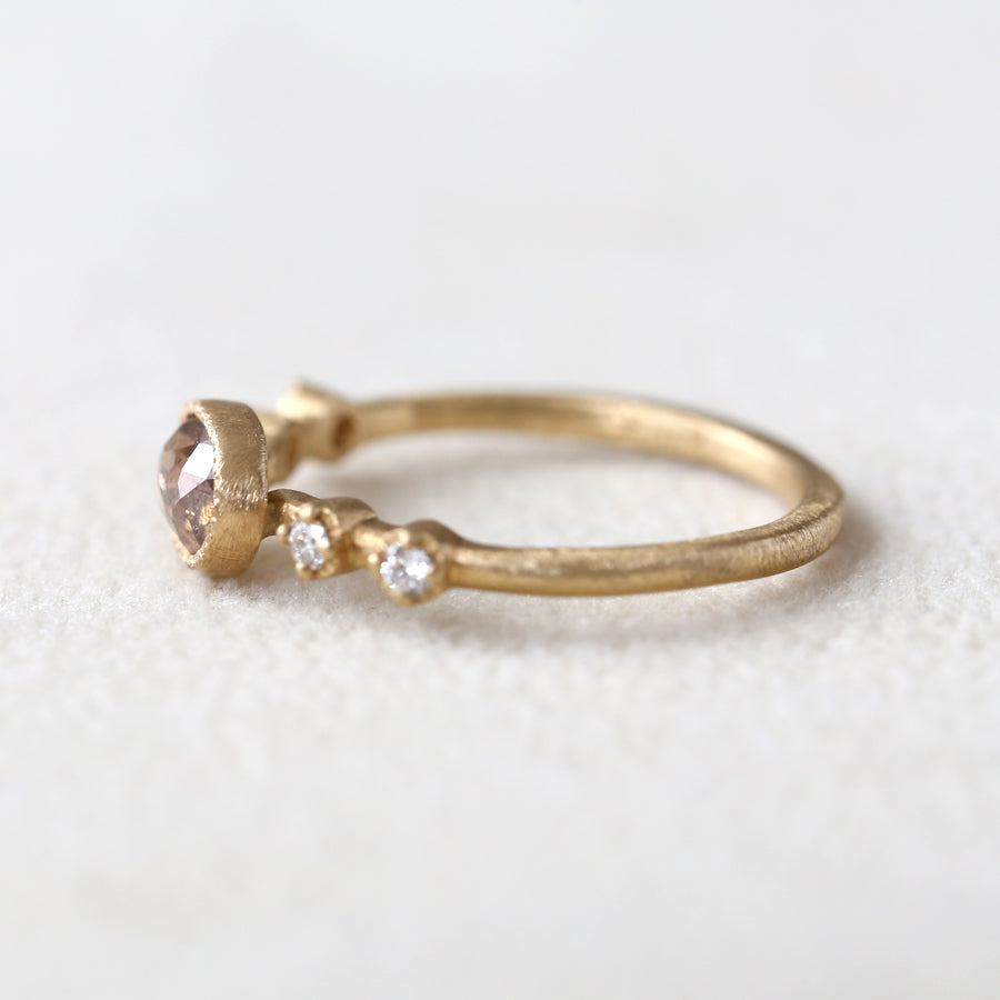 0.50ct light brown diamond Muguet Ring