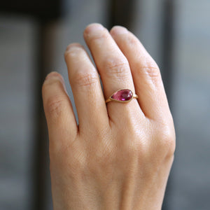 2.97ct Bi color pink tourmaline ring