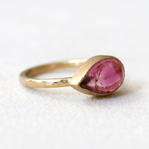 3.35ct Bi color pink tourmaline ring