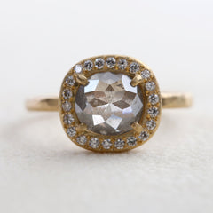 1.30ct  grey diamond ring