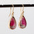 Bi-color tourmaline earrings