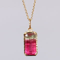 3.63ct watermelon tourmaline necklace