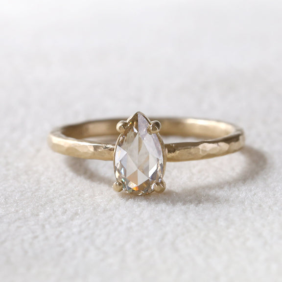 0.65ct light champagne diamond ring