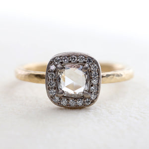 0.45ct rose cut diamond ring