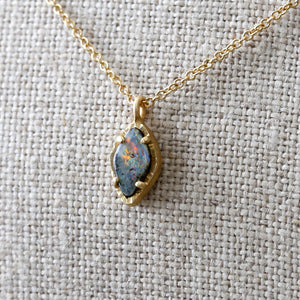 Australian boulder opal necklace 2