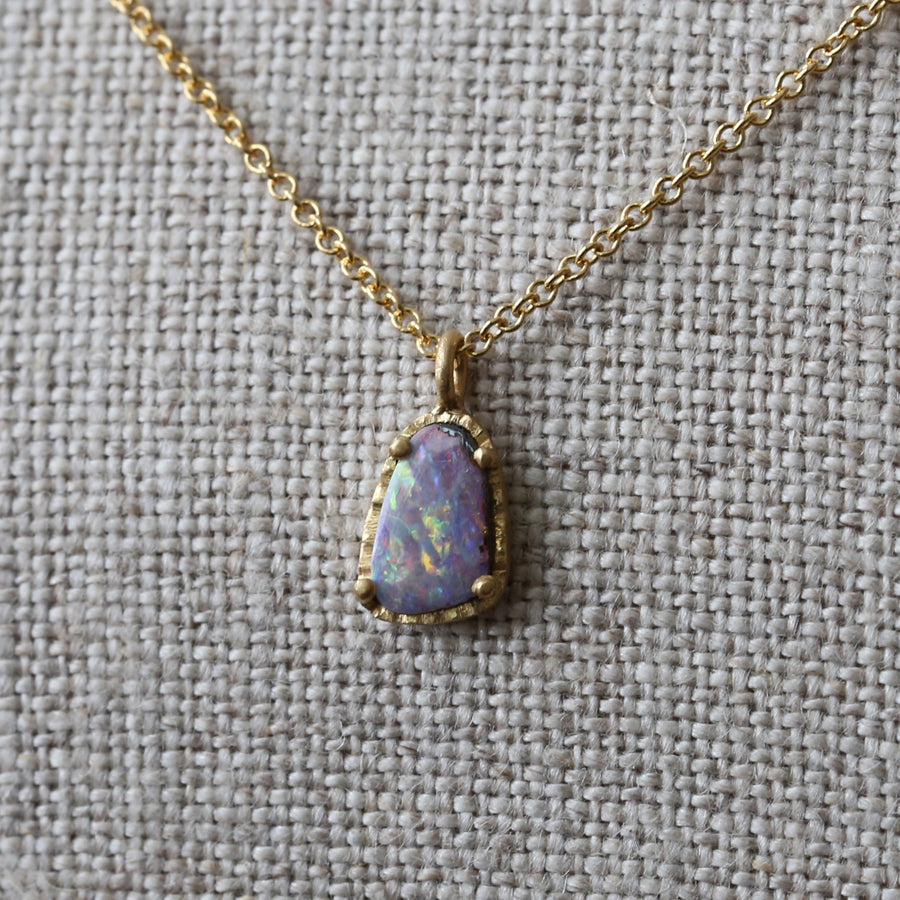 Australian boulder opal necklace 3