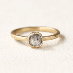 0.50ct Icy grey diamond ring