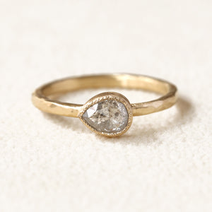 0.70ct Icy grey diamond ring