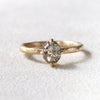 0.79ct salt & pepper diamond ring
