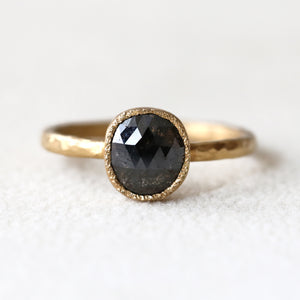 1.10ct black diamond ring