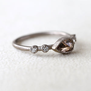 0.60ct light brown diamond Muguet Ring