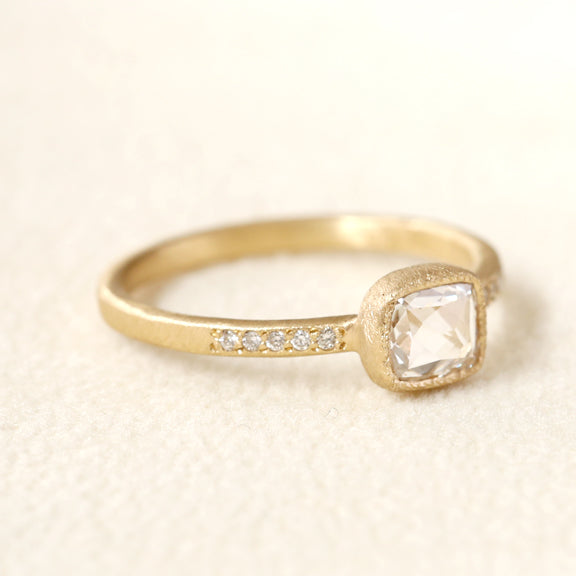 0.33ct rose cut diamond ring