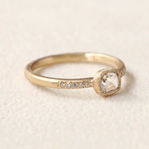 0.40ct rose cut diamond ring