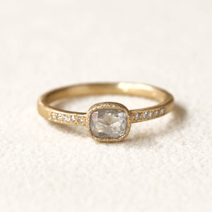0.49ct Icy grey diamond ring