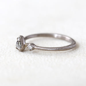 0.17ct grey diamond Muguet Ring