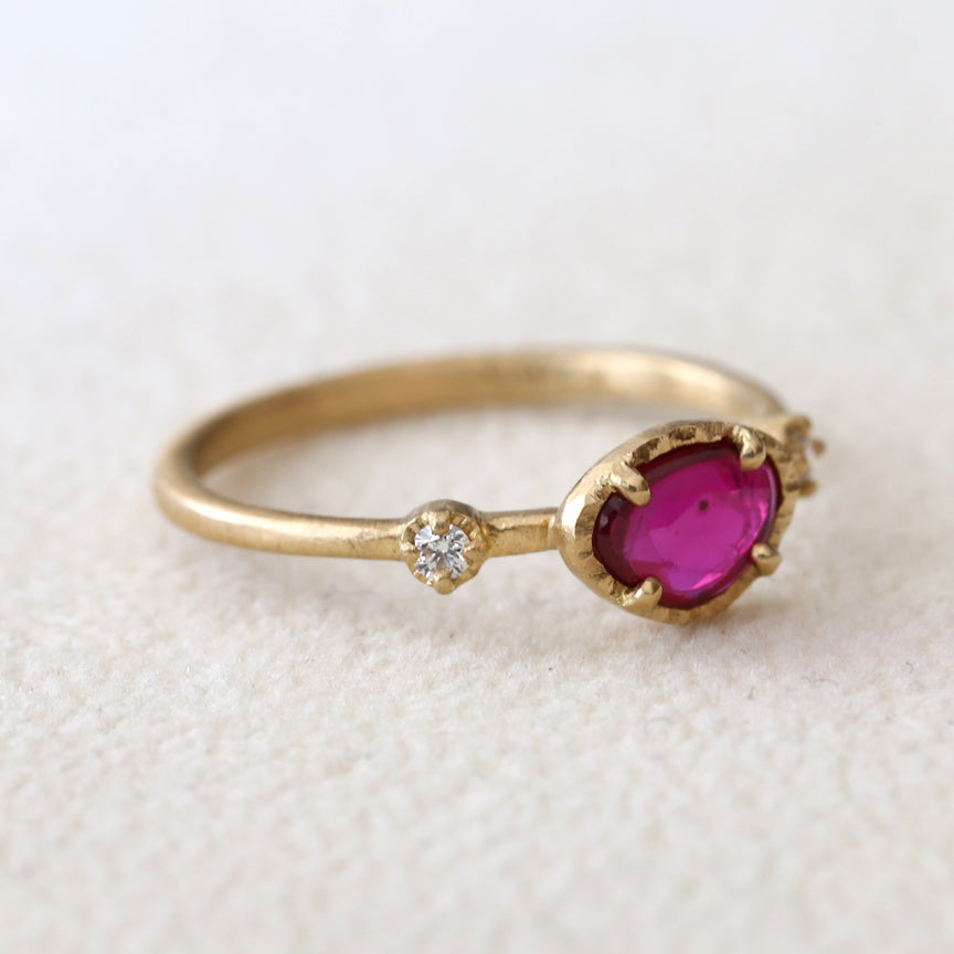 0.49ct Ruby Muguet Ring