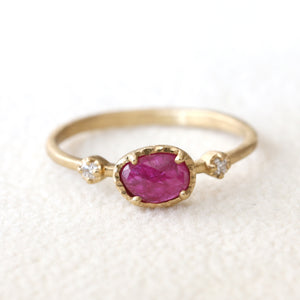 0.52ct Ruby Muguet Ring