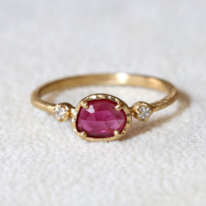 0.56ct Ruby Muguet Ring