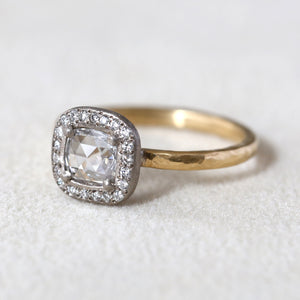 0.40ct colorless diamond two-tone ring