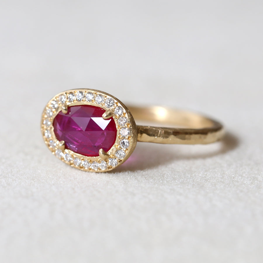 0.56ct ruby ring