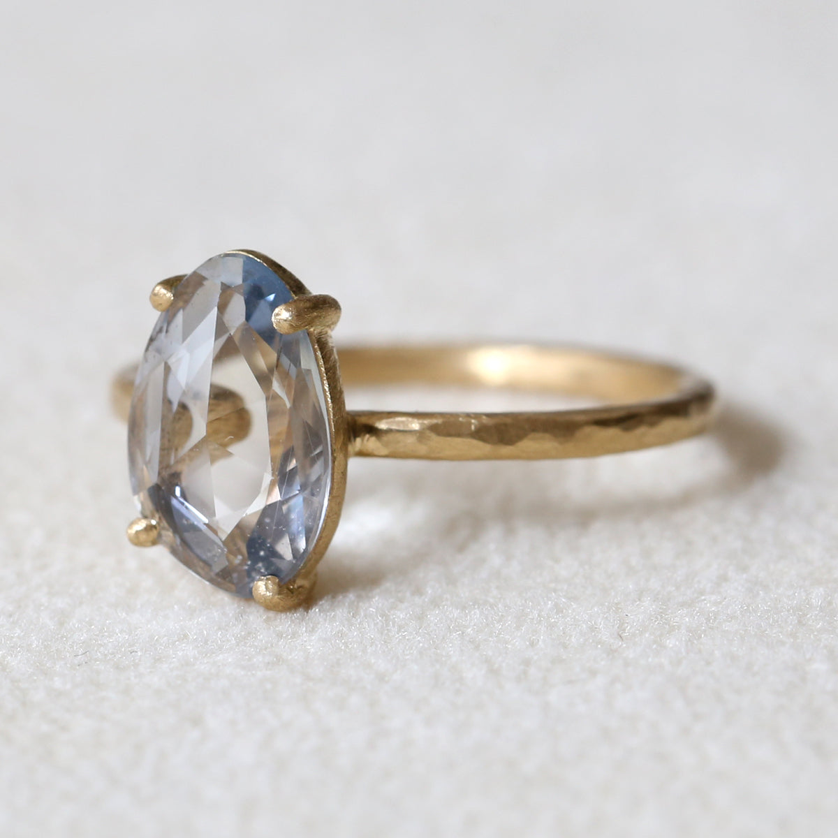 1.71ct Pale Blue Sapphire Ring