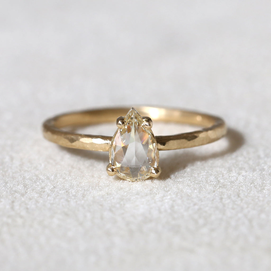 0.44ct light champagne diamond ring