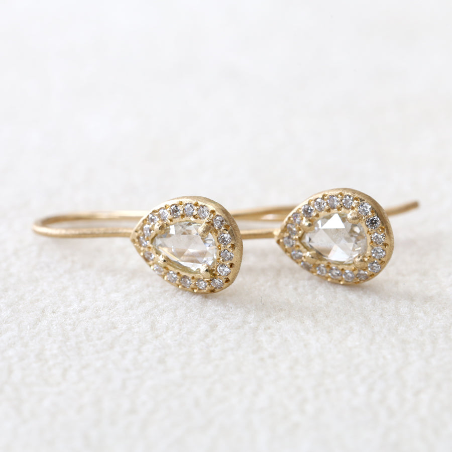 Rose cut diamond earrings