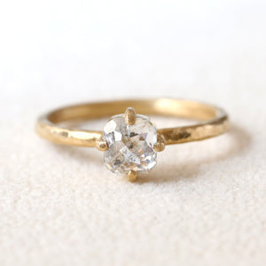 0.94ct salt & pepper diamond ring