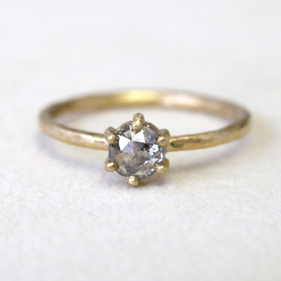 0.50ct salt & pepper diamond ring