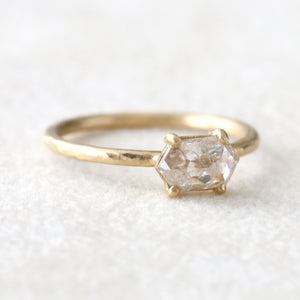 0.64ct Hex diamond ring