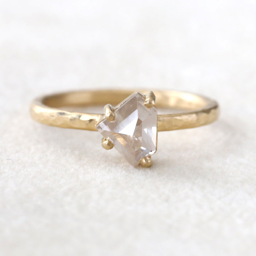 1.03ct milky grey diamond ring