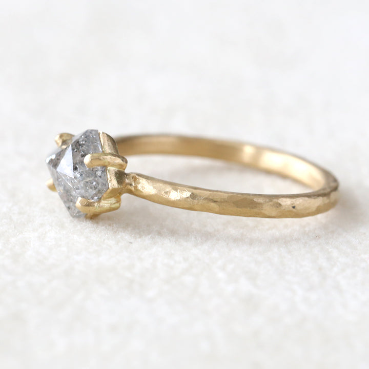 1.04ct Shield diamond ring