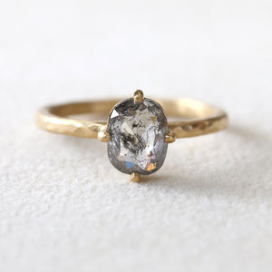 1.29ct  salt & pepper diamond ring