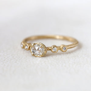 0.19ct rose cut diamond Muguet Ring