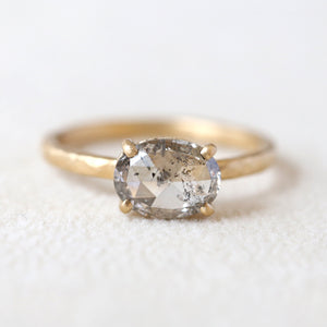 1.02ct salt & pepper diamond ring