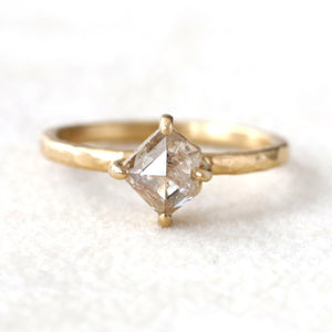 1.14ct peach diamond ring