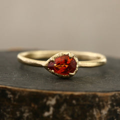 Bouquet ring / Orange Sapphire