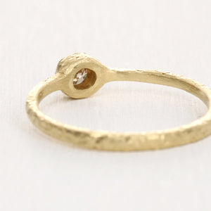 3mm brown diamond ring