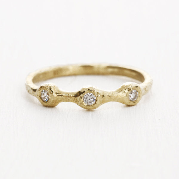 Three-diamond ring