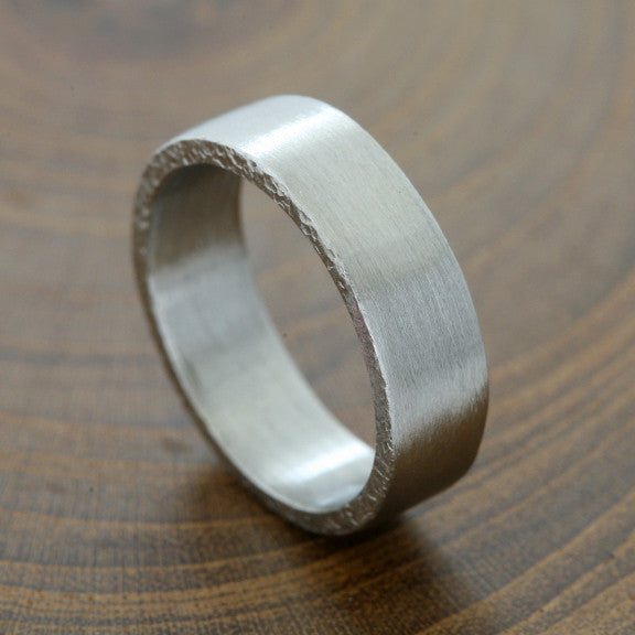 6.5mm Platinum band, brushed