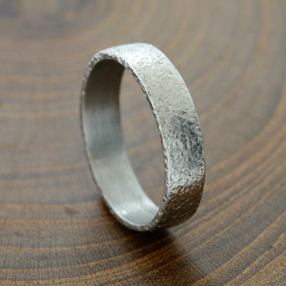 5mm textured Platinum band