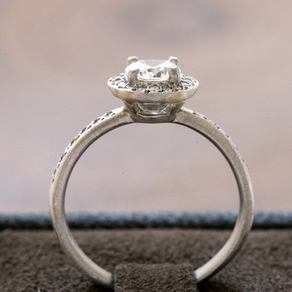 Half carat center stone ring / halo