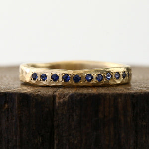12 Blue Sapphire Ring