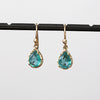 Waterly emerald earrings