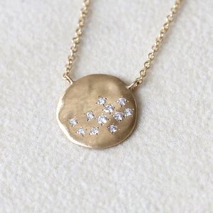 Dew large disc necklace