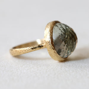 15mm Green Amethyst ring