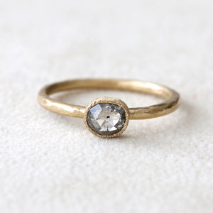 0.44ct salt & pepper diamond ring