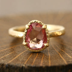 1.73ct Unheated padparadscha sapphire Ring