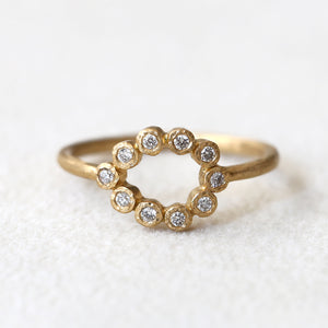 Pear shape Diamond bezel ring