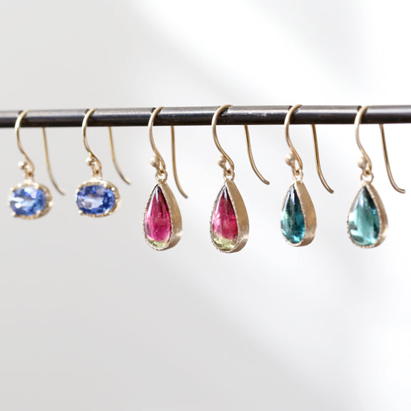 Bi color tourmaline earrings